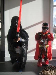 darth vader meets powerranger
